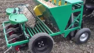 Garmach 4 row chain garlic onion saffron bulbs planter AGP-4R (tractor mounted)
