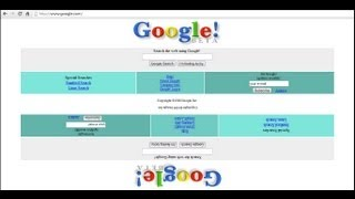 Эволюция google.com (HD)