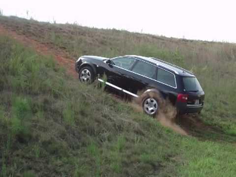 Audi Allroad Quattro 2.7T climbing hill - 25% grade !!