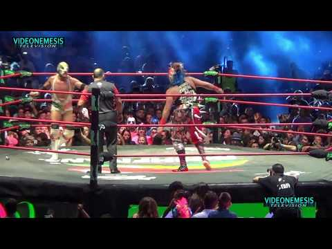 Dr Wagner Jr VS Psycho Clown triplemania 25