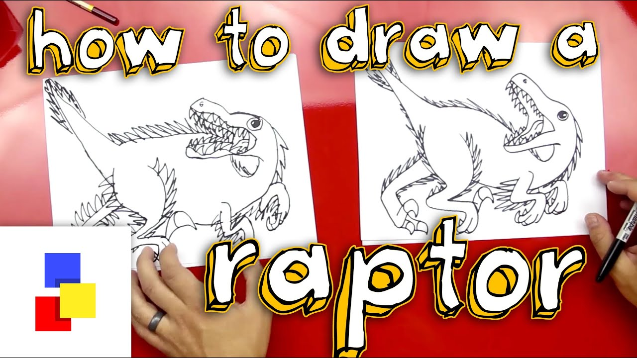 Uncategorized Art Pictures For Kids To Draw how to draw a velociraptor youtube