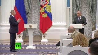 Владимир Путин вручает звезды Героев Труда в Кремле