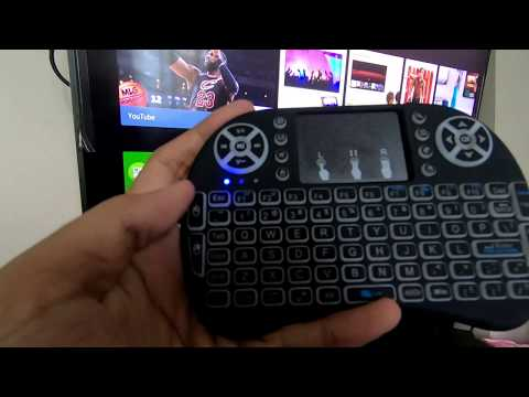 Mini wireless keyboard for Smart TV unboxing and set up