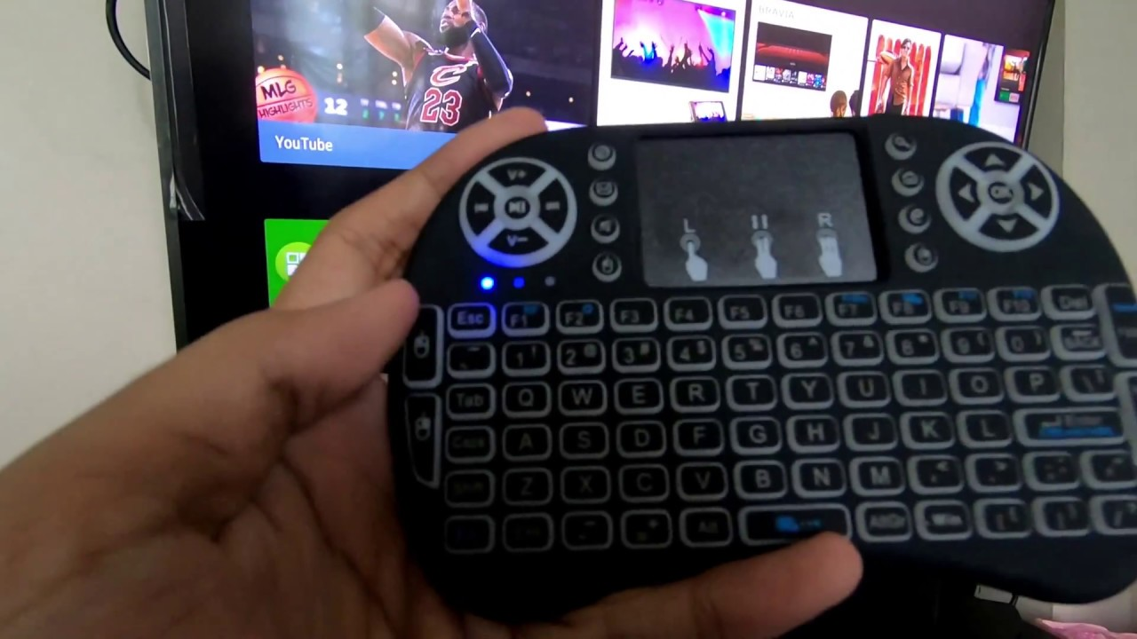 d05e5bc05c8 Mini wireless keyboard for Smart TV unboxing and set up - YouTube