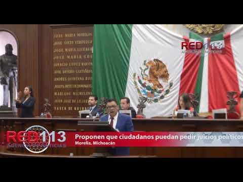 VIDEO Proponen que ciudadanos pueda promover juicios políticos
