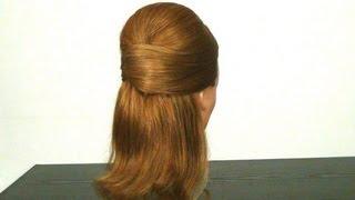 Прическа на средние и длинные волосы. Elegant hairstyle for long hair