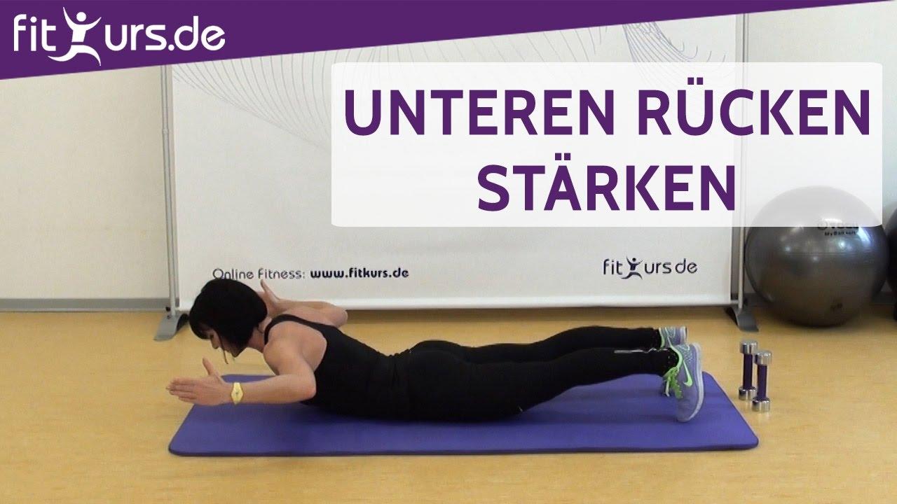 Unteren Rücken stärken: Rückenheben/Rumpfheben - YouTube
