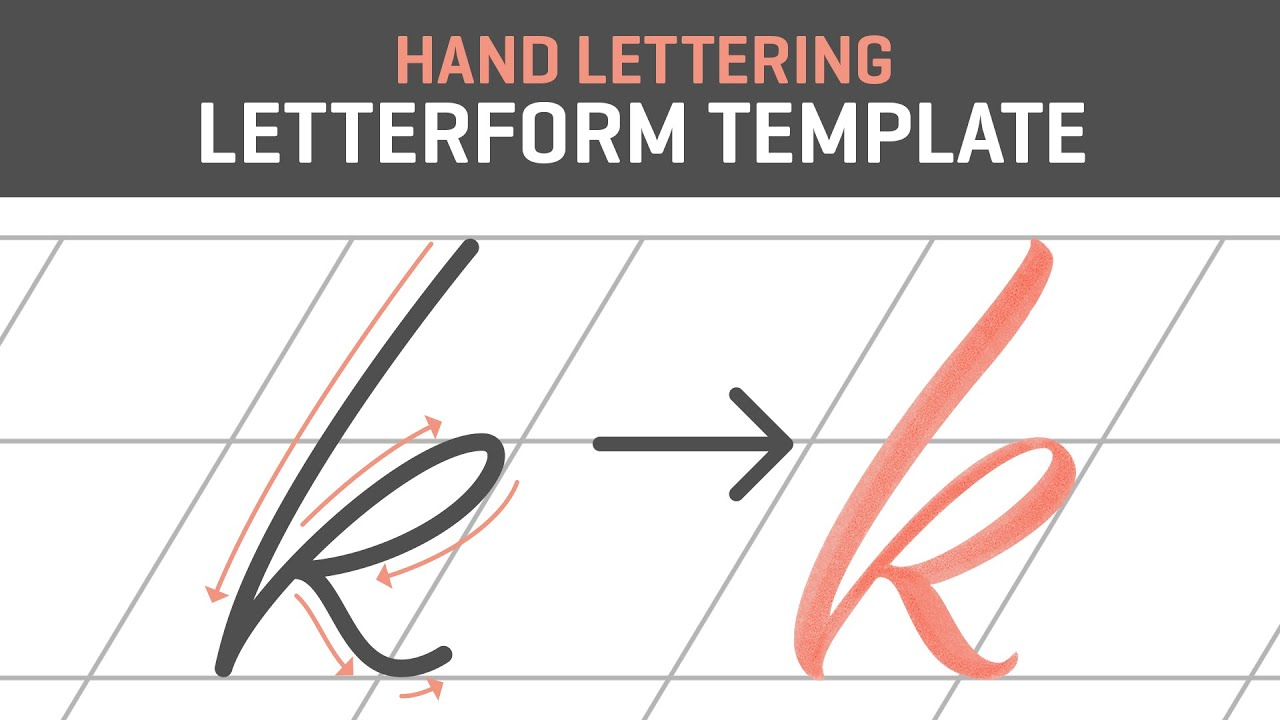 hand lettering tutorial for beginners letterform template free