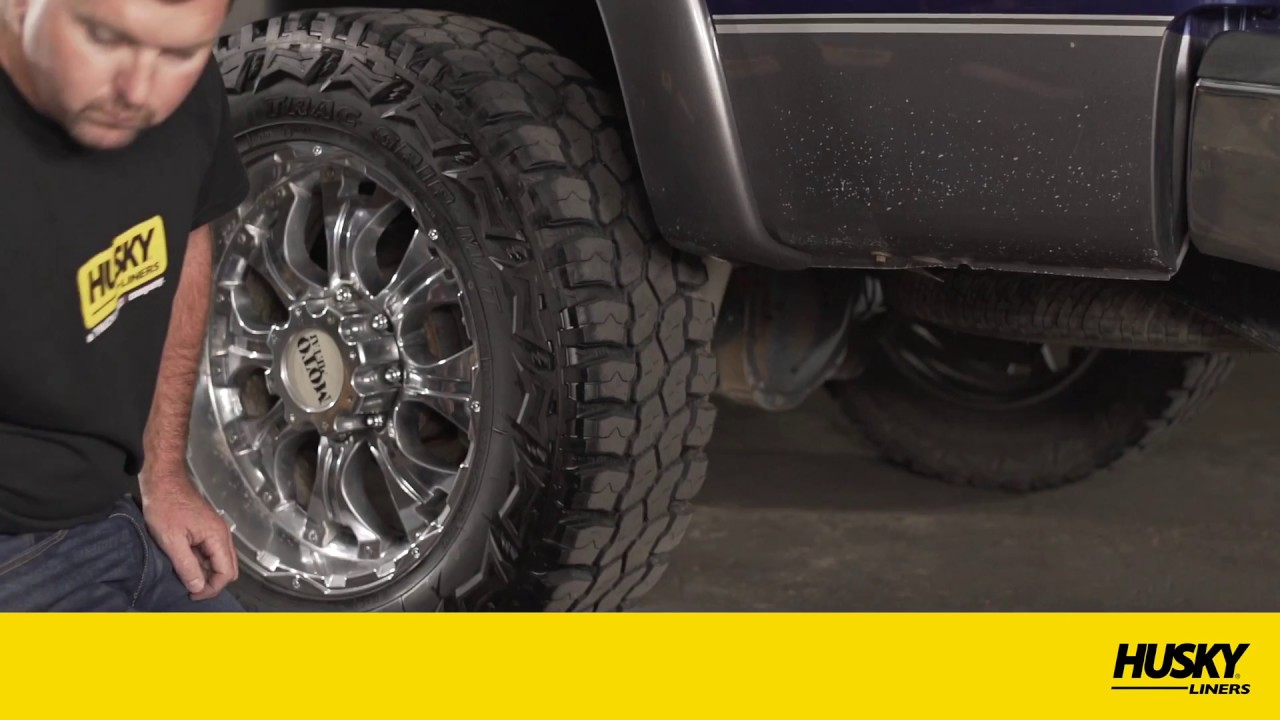Dually Mud Flaps >> Husky Liners® Kickback™ Mud Flaps Installation Video - YouTube