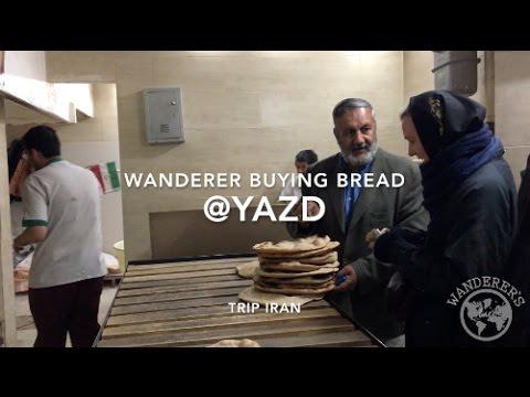 Buying bread in Yazd, Iran