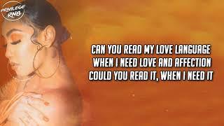 Queen Naija - Love Language (Lyrics)