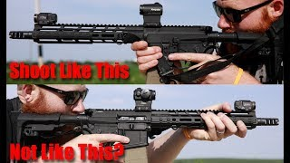 How To Shoot A Rifle: Magwell Grip vs C Clamp Grip