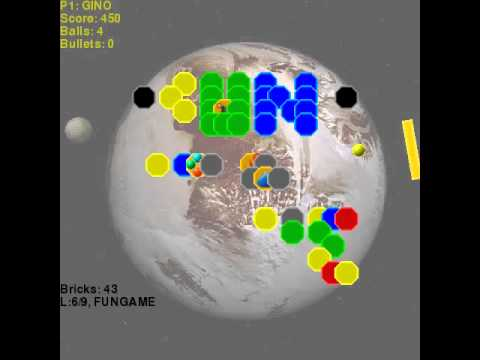 pybreak360 arkanoid breakout multi player network game open source linux windows