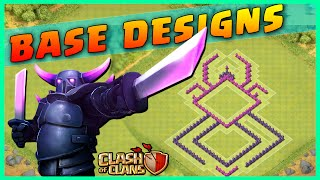 "Clash of Clans: ""SPOOKY BASE DESIGNS!"" - Skull, Spider & Bat Defense Base Strategy (CoC Base)"