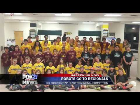 Cougars Gone Wired Regional Robot Preview on FOX21 Morning News