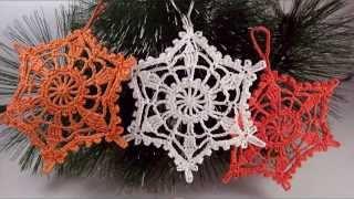 Вязание снежинки крючком - How to crochet snowflake