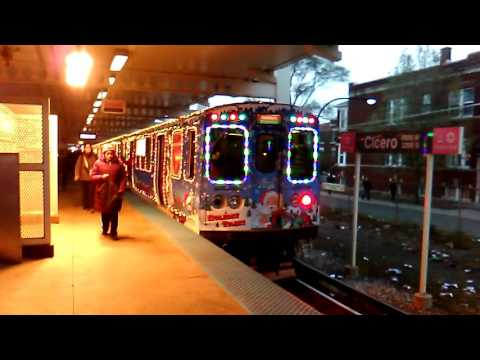 Cta Holiday Train Pink Line Station At Cicero Stop