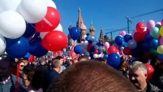 Москва демонстрация  1 мая