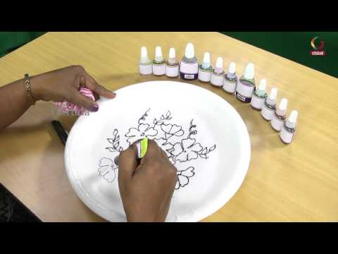 How to Paint Ceramic Dinner Plates | Craft Paint | Colurs