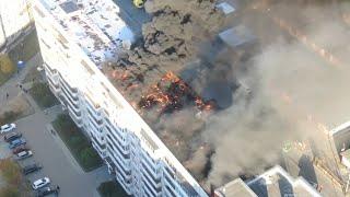 Так горят только нефтескважины и многоэтажки. Real Video