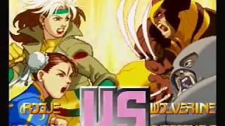 Baboon plays Sega Saturn X-Men vs Street Fighter!!! Japanese Import