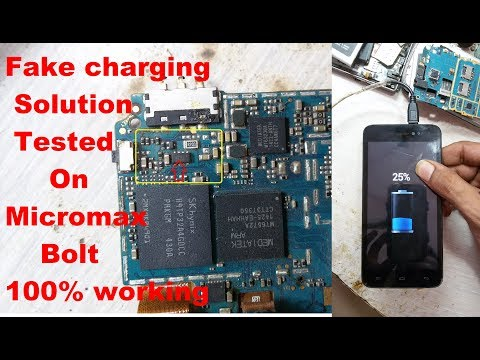 How To Fix Android Mobile Fake Charging Solution/Charging Not Store Solution Tested On Micromax Bolt