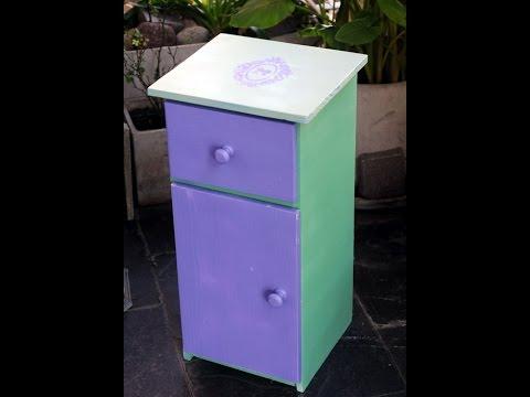 Pintar muebles pintura en aerosol gimena dusi youtube for Pintar muebles con spray