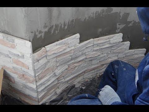 Отделка балкона ДИКИМ камнем видео! Декоративный камень своими руками! Отделка искусственным камнем