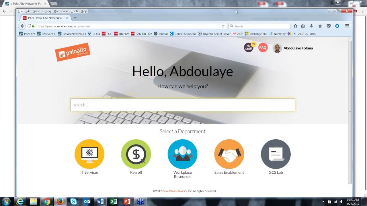 webinar series service portal on servicenow with palo alto