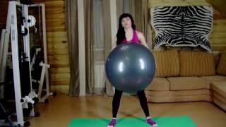 Видеоурок 28 Растяжка, упражнения на выработку равновесия с помощью фитбола