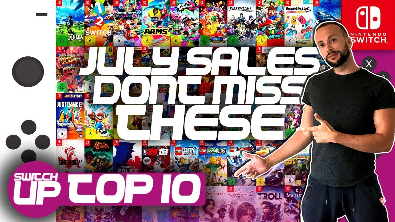 Top 10 Switch Games - DONT MISS THESE SAVINGS! - July 2018 Eshop Sales