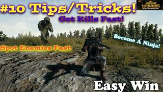 PUBG MOBILE 10 Tips/Tricks On How to See/Find Enemy, kill and Win