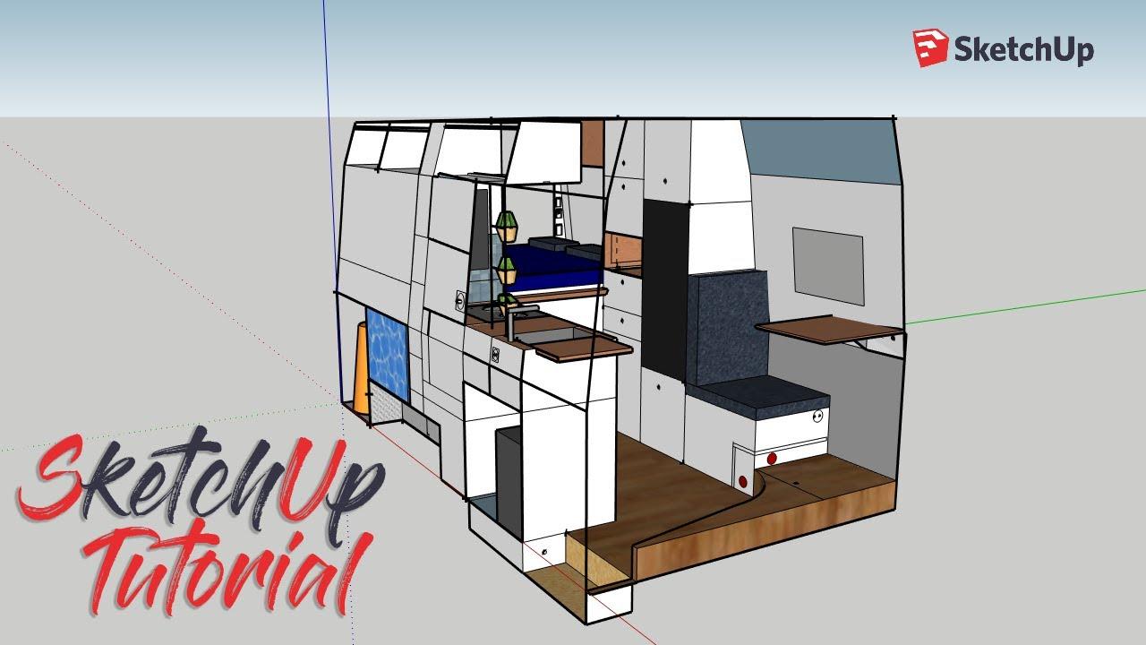 Camper planen mit SketchUp・Campervan Wohnmobil Selbstausbau・DIY  Campervan・VW Crafter