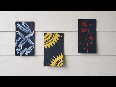 DIY Home decor crafts / easy painting ideas / cardboard crafts