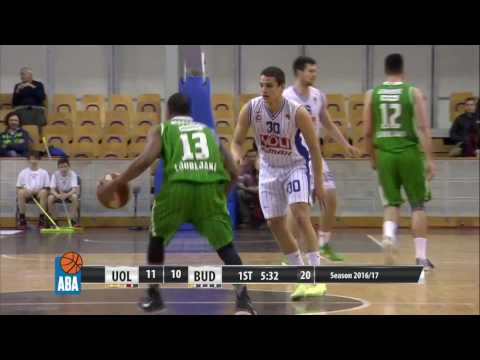ABA Liga 2016/17, Round 23 match: Union Olimpija - Budućnost VOLI (22.2.2017)