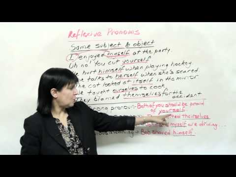 4 Grammar Mistakes: MYSELF, YOURSELF And Other Reflexive Pronouns