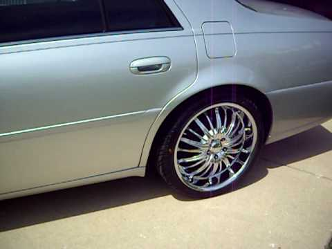 "22 Inch Tires >> 2002 Deville DTS 20"" Akuza Belle wheels - YouTube"