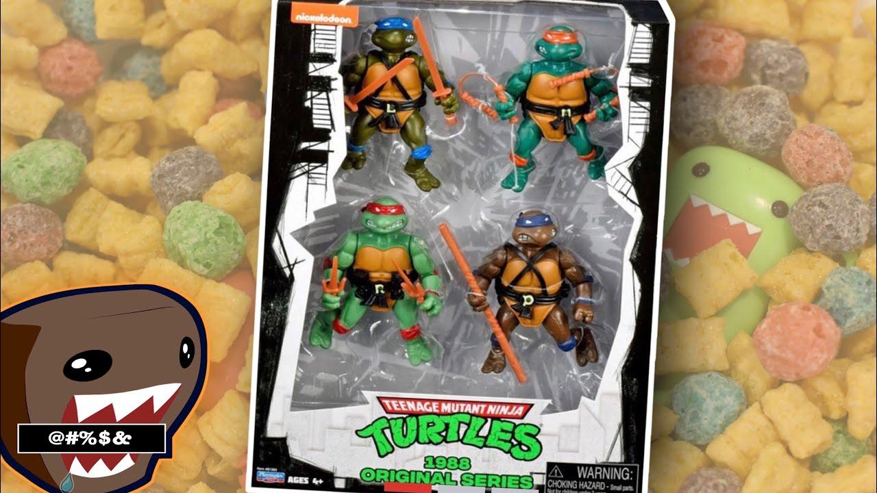 TMNT Teenage Mutant Ninja Turtles 1988 Original Series Classic Action Figure Set