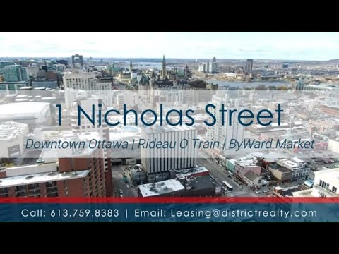 1 Nicholas St. - Commercial Office Space for Lease | Downtown Ottawa | Rideau St. O Train