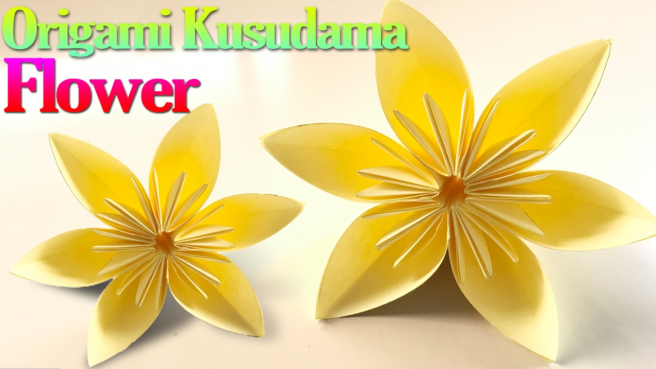 How To Make An Origami Kusudama Flower Step By Step Origami Vtl