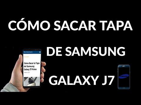 Cómo Retirar la Tapa de tu Samsung Galaxy J7 Prime