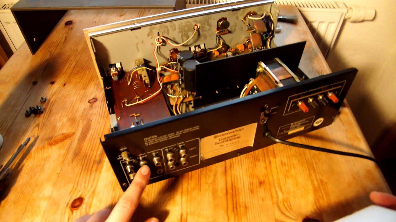 Kenwood Stereo Integrated Amplifier KA-3700 zerlegen und reinigen ...