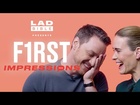 James McAvoy vs Sarah Paulson Play First Impressions