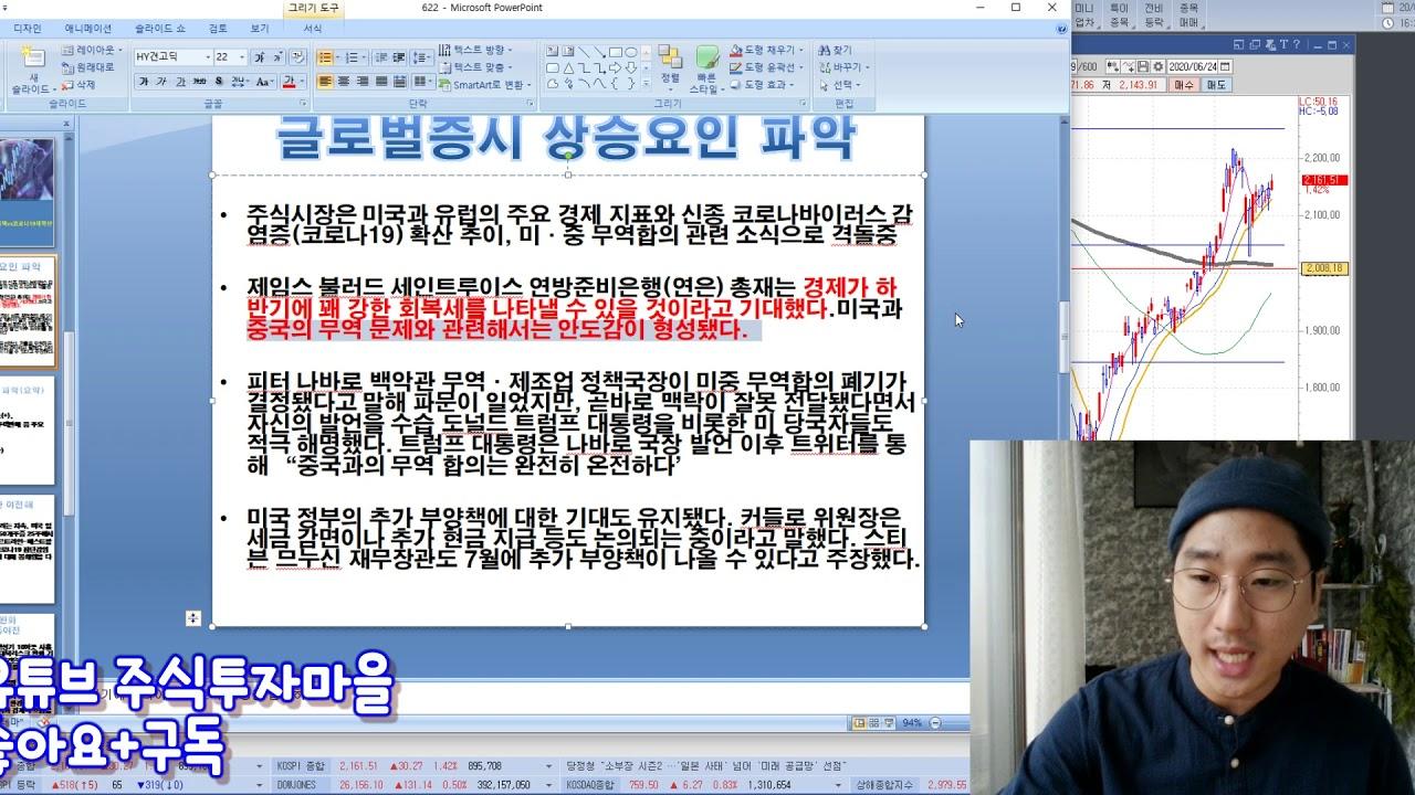 코로나19 재확산 vs 7월 경기부양정책 우선, 글로벌증시 시간벌었다 다우 나스닥 상승 더 그려봅시다.