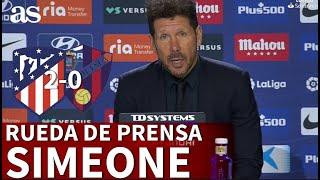 ATLÉTICO 2 - HUESCA 0 | Rueda de prensa de SIMEONE | Diario AS