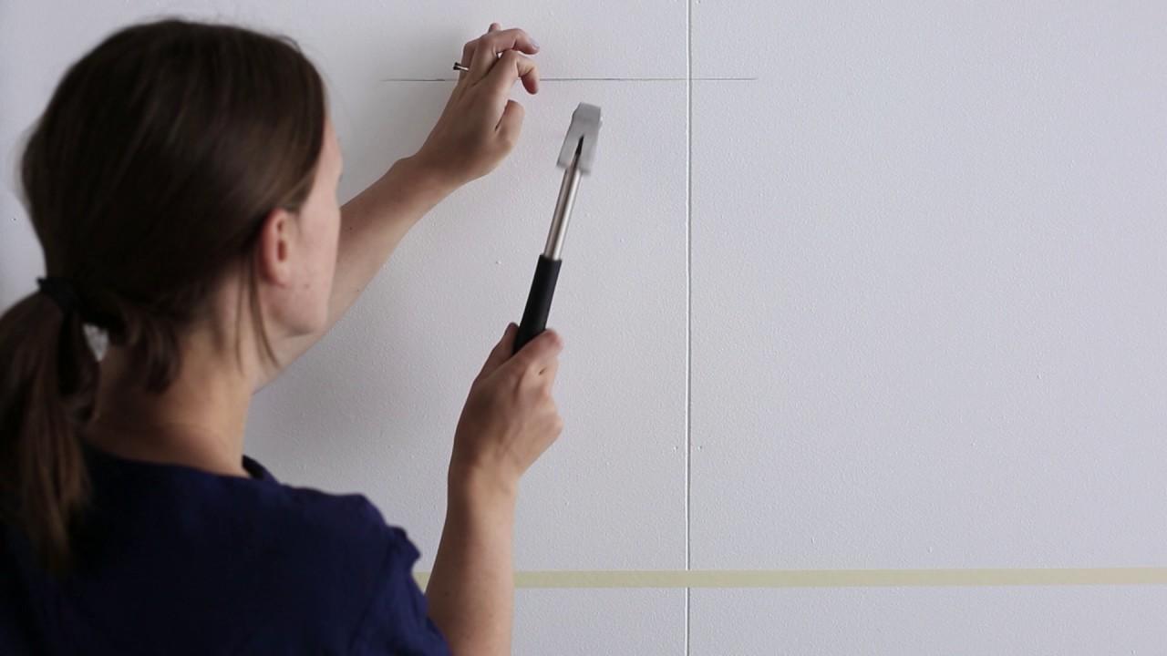 Welp IKEA idee - Hoe lijsten ophangen in een rechte lijn - YouTube XV-06