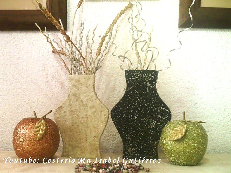 Jarr n de cart n y papel 2 diy made of cardboard vase - Como hacer jarrones de papel ...
