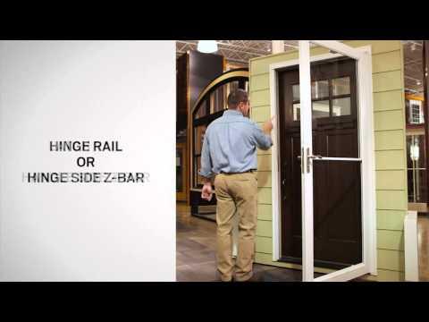 Identifying the Parts of Andersen® Self-Storing Storm Doors
