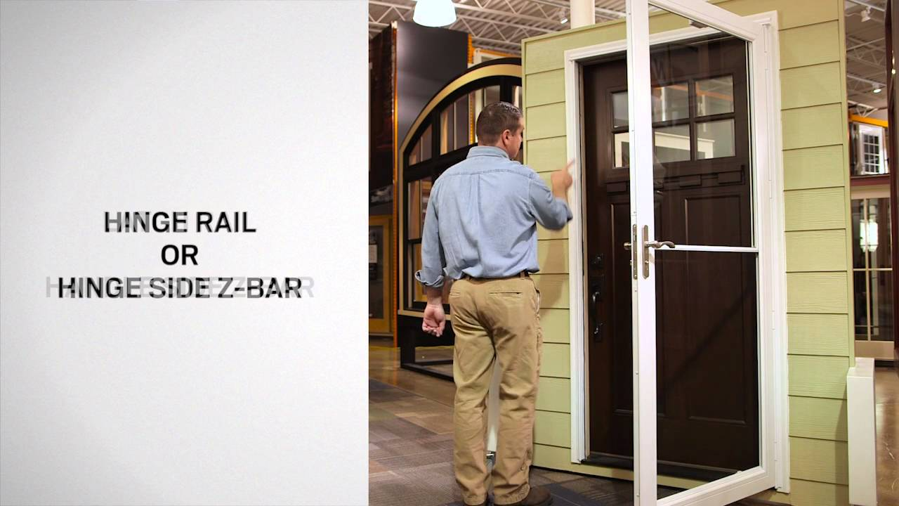 Identifying The Parts Of Andersen Self Storing Storm Doors Youtube