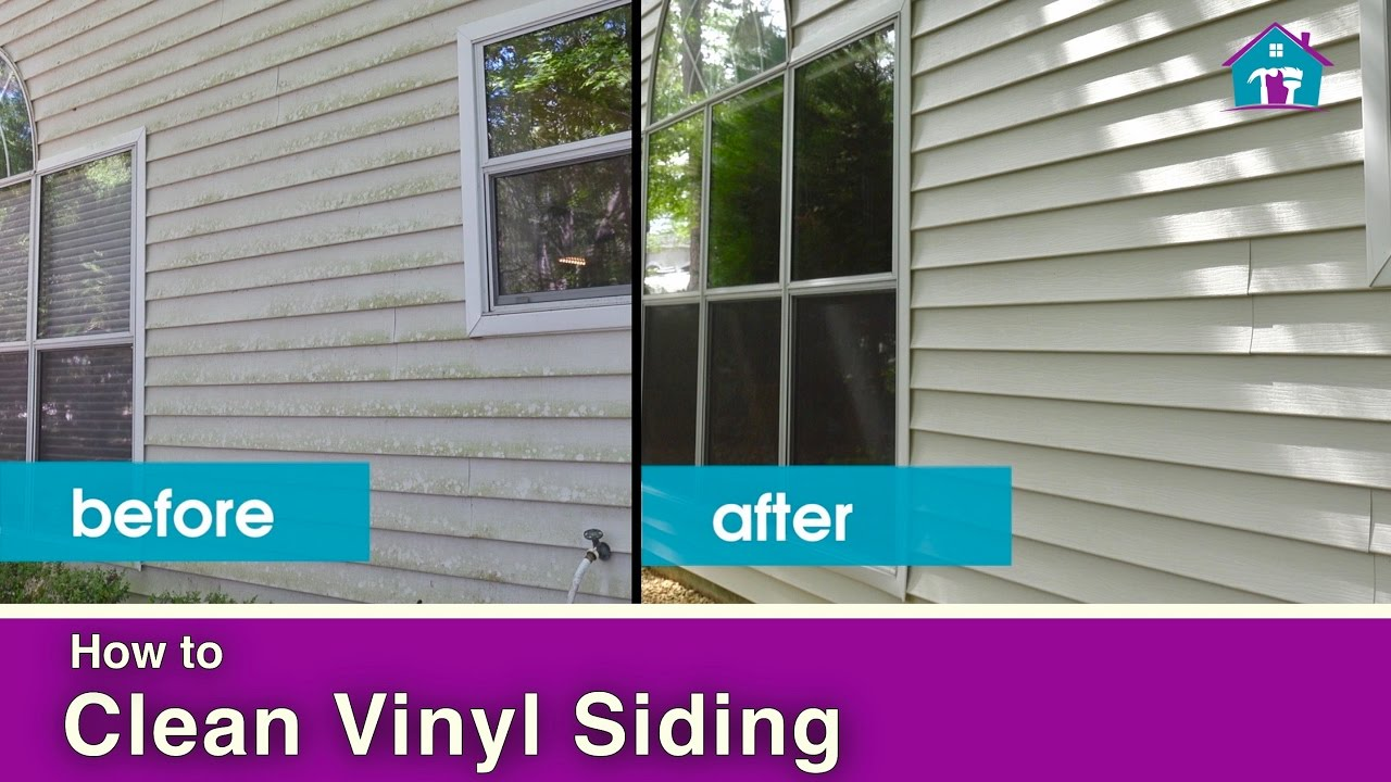 how to clean vinyl siding youtube